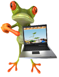computer recycling frog