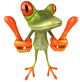 Importance of Recycling: frog